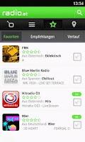 Screenshot of radio.at - The Radioplayer