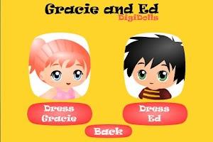 Screenshot of Gracie and Ed Digi-Dolls Free