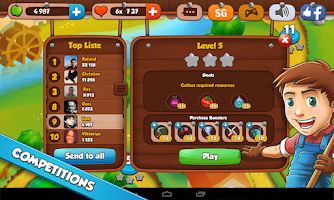 Screenshot of Farm Puzzle Story Match 3 Game
