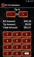 Screenshot of EZ Tip Calculator