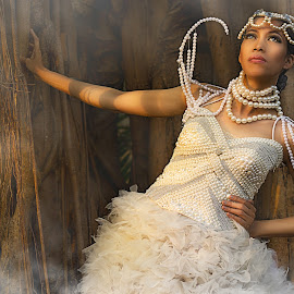 Sky  by Christen Zamora - People Fashion ( fantasy, model, fashion, sky, gown )
