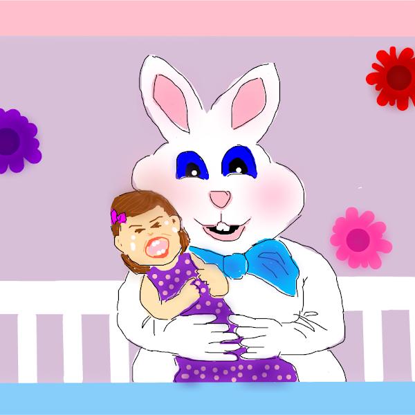 meeting easter bunny  u00bb drawings  u00bb sketchport