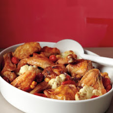 Roasted Chicken with Cauliflower and Chickpeas
