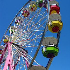 Ferris Wheel  by Christine B. - Buildings & Architecture Other Exteriors ( ride, structure, colorful, fair, ferris wheel )