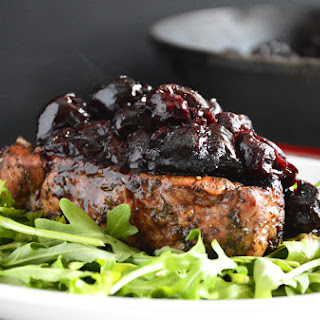 Sage Pork Chops with Cherry Balsamic Glaze