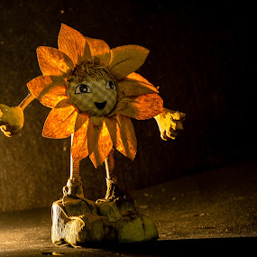 by Ralf Harimau Weinand - Artistic Objects Other Objects ( sonnenblume, toy, sunflower, straw-puppet, spielzeug, strohmännchen )