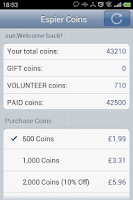 Screenshot of Espier Coins
