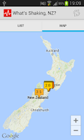Screenshot of What's Shaking, NZ?