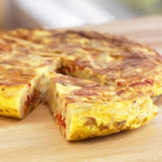 Potato and Roasted Bell Pepper Tortilla