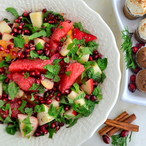 Cardamom Citrus Fruit Salad with Pomegranate