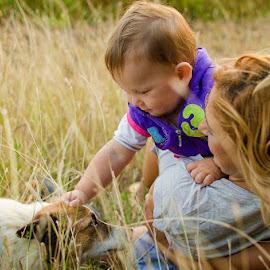 Boy's best friend by Adrian Podaru - People Family ( family, pet, dog, garden, baby boy,  )