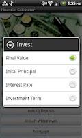 Screenshot of FinCalc