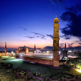 The Royal Mosque by Rana Saad - Buildings & Architecture Places of Worship ( mosque, long exposure, architecture, panorama, nightscape )