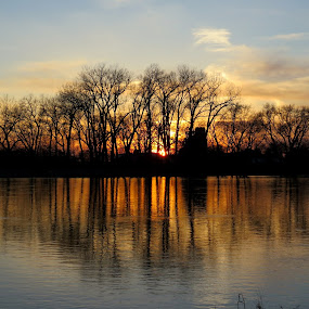Ode to the day by Diane Ebert - Landscapes Waterscapes ( #peaceful, #endoftheday, #smalltown,  )