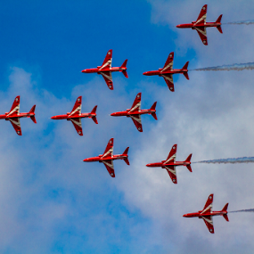 by Paul Scullion - Transportation Airplanes ( red, plane, arrow, display, air, jet )