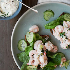 Shrimp and Cucumber Salad with Horseradish Mayo