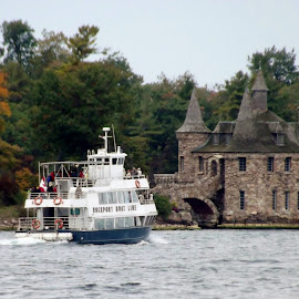 Boldt Castle Power House by Laura Taylor - Buildings & Architecture Public & Historical ( homes on the river, boldt castle, alexandria bay, st lawrence river, power house,  )