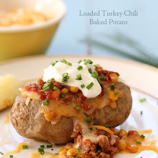 Loaded Turkey Chili Baked Potato