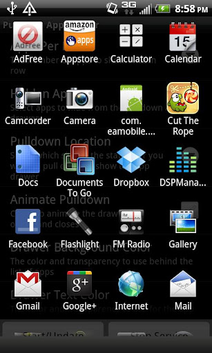 Pulldown App Drawer