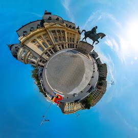George Enescu Plaza by Bogdan Ionescu - Digital Art Places ( george enescu, bucharest, istorical, romania, plaza )
