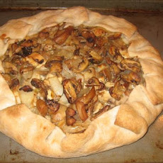 Rustic Mixed Mushroom and Blue Cheese Galette