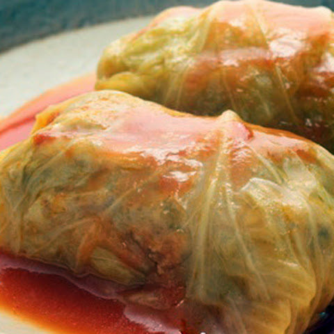 Slow Cooker Stuffed Cabbage Rolls