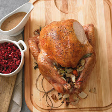 Juniper-Brined Roast Turkey with Chanterelle Mushroom Gravy