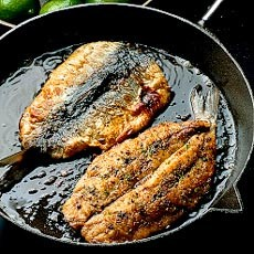 Fried Herring Fillets with a Lime Pepper Crust