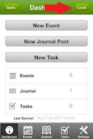 Screenshot of Diary Mobile