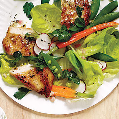Spring Garden Salad with Chicken and Champagne Vinaigrette