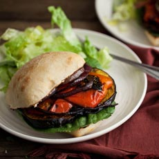 Grilled Veggie Sandwich with Smoked Paprika and Turmeric