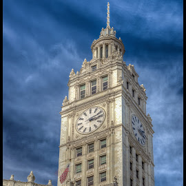 Wrigley Tower by Tony Roma - Buildings & Architecture Public & Historical ( building, tower, clock, chicago, wrigley )