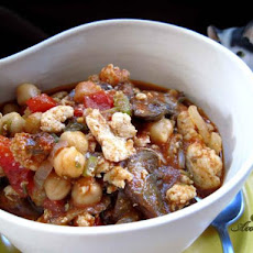Turkey, Mushroom and Chickpea Sauce (Crock-Pot)