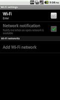 Screenshot of Wifi Bluetooth GPS Brightness