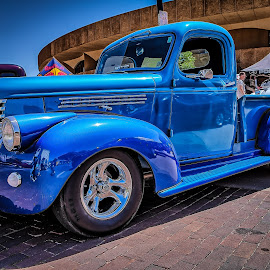 Old Blue by Ron Meyers - Transportation Automobiles