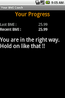 Screenshot of Your BMI Coach