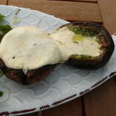Pesto Grilled Mushrooms