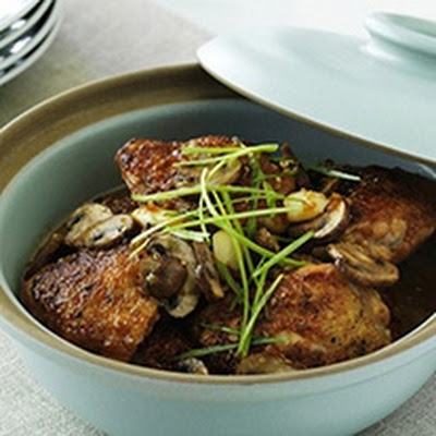 Teriyaki-braised Chicken Thighs With Mushrooms