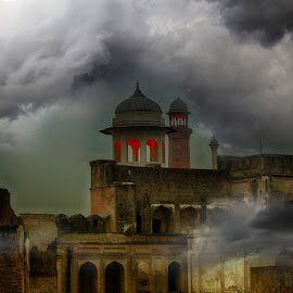 Lahore Fort 1556 by Sami Haider - Digital Art Places