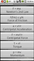 Screenshot of Force & Motion