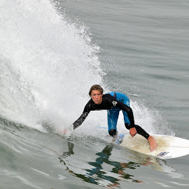 Surfer at HB by Jose Matutina - Sports & Fitness Surfing ( orange county, surfer, california, sport, huntington beach,  )