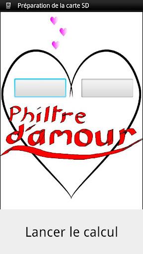 Philtre d'amour love test