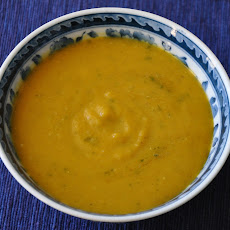 Roasted Pumpkin (or Butternut Squash) and Red Lentil Soup