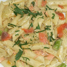 Penne With Asparagus and Smoked Salmon Cream
