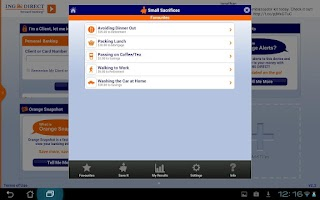 Screenshot of ING DIRECT Canada Tablet