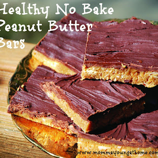 Healthy No-Bake Peanut Butter Bars Recipe and Healthy Cookbook Giveaway