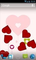 Screenshot of Bouncy Hearts Free LWP
