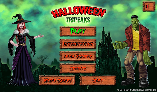 Halloween Tripeaks - screenshot