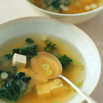 Miso Soup with Tofu and Kale