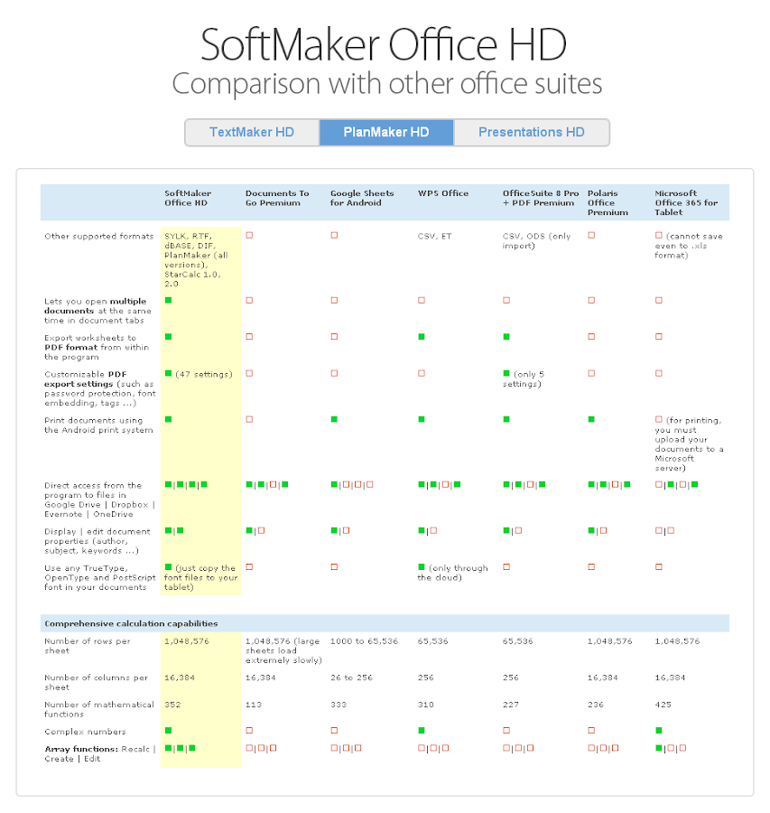 Office HD: PlanMaker FULL Screenshot 10